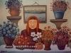 Josip Generalic, 1966, Florist, oil on canvas