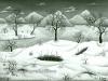 Josip Generalic, 1966, Winter, oil on canvas