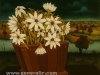 Josip Generalic, 1967, Flowers in a bucket, oil on glass