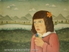 Josip-Generalic-1967-Girl-with-flowers-oil-on-canvas-49×53-cm-repaired