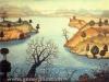 Josip Generalic, 1967, Landscape with a tree, oil on canvas