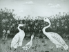 Josip Generalic, 1967, Three storks, oil on canvas