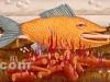 Josip Generalic, 1969, Fish on spit-roast, oil on canvas