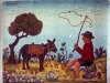 Josip Generalic, 1969, Fisherman with a donkey, oil on canvas