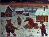 Josip Generalic, 1969, Masquerade in winter, oil on canvas