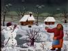 Josip Generalic, 1969, Woman and snowman, oil on canvas