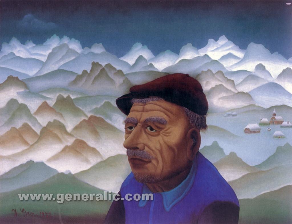 Ivan Generalic, 1975, Smolek, oil on glass