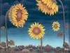 Ivan Generalic, 1970, Sunflowers, oil on glass