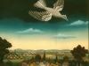 Ivan Generalic, 1970, White bird, oil on glass