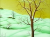 Ivan Generalic, 1973, The first snow - triptych 3, oil on glass