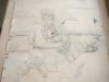 Ivan Generalic, 1974, Old Gipsy woman, drawing, 120x97 cm