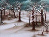 Ivan Generalic, 1975, Forest during winter ORI, oil on glass