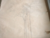 Ivan Generalic, 1975, Two trees, drawing, 130x114 cm