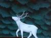 Ivan Generalic, 1975, White deer, oil on glass