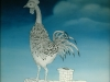 Ivan Generalic, 1975, White rooster, oil on glass