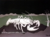 Ivan Generalic, 1978, White lobster, oil on glass