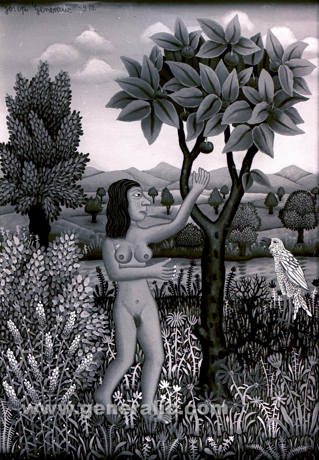 Josip Generalic, 1970, Eve, oil on canvas