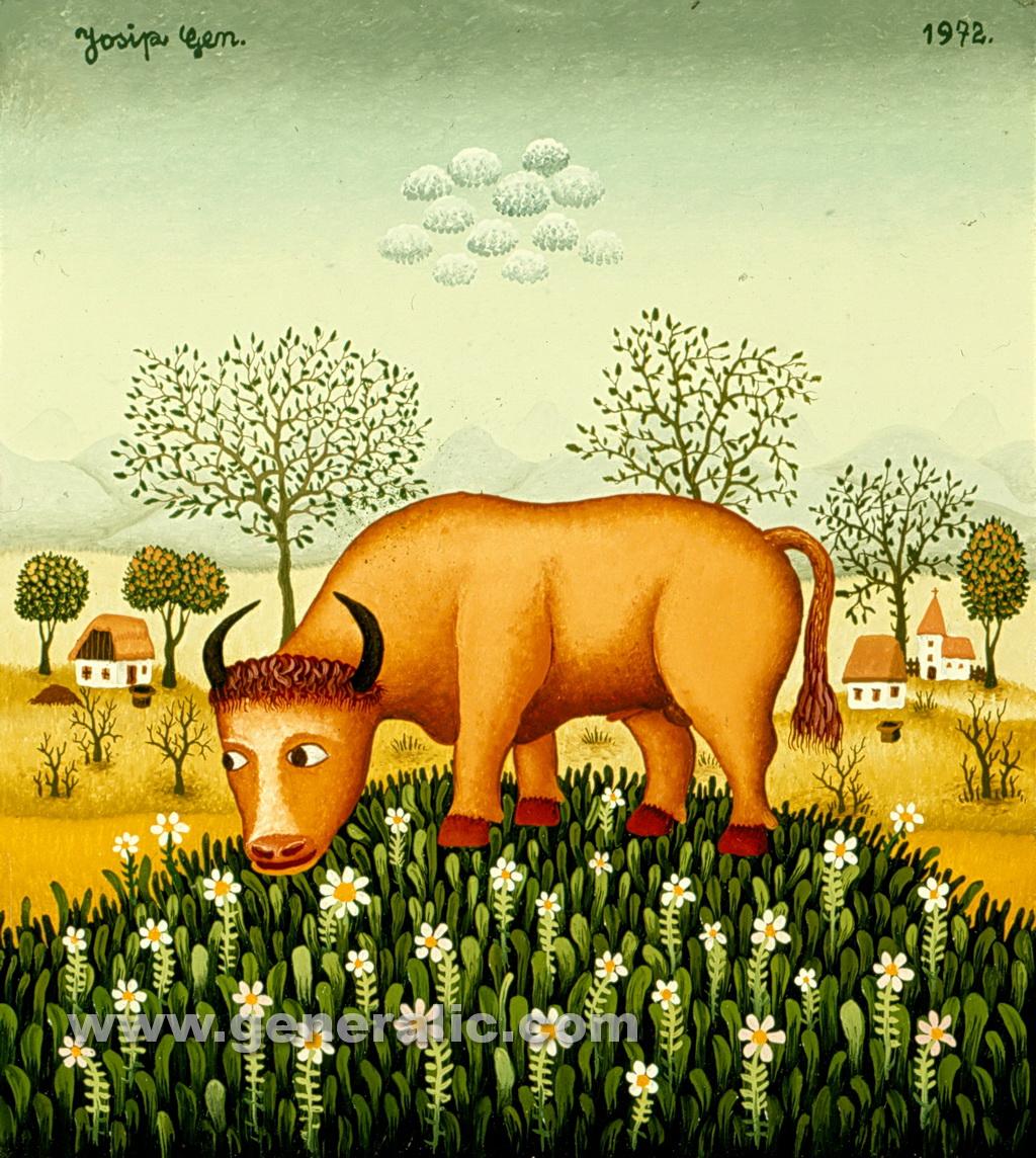 Josip Generalic, 1972, Pasture, oil on canvas