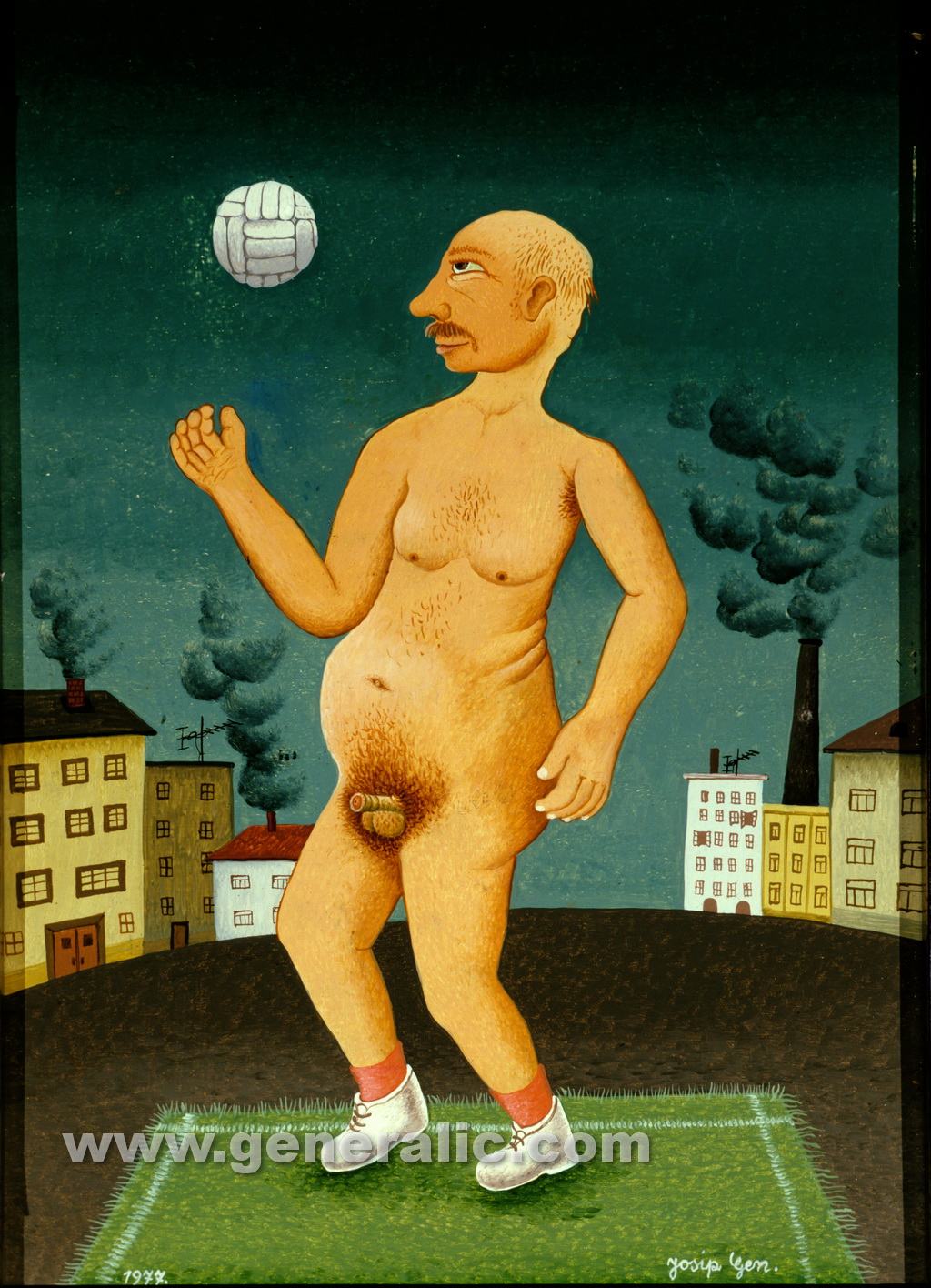 Josip Generalic, 1977, Morning practice, oi l on canvas