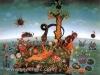 Josip Generalic, 1970, Adam and Eve, oil on glass