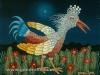 Josip Generalic, 1970, Bird in the night, oil on glass