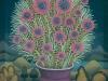 Josip Generalic, 1970, Flowers in purple pot, oil on glass