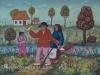 Josip Generalic, 1970, Return from vineyard, oil on canvas