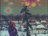 Josip Generalic, 1970, Tree for Christmas, oil on glass