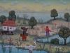 Josip Generalic, 1970, Village life, oil on canvas