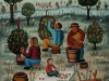 Josip Generalic, 1970, Vineyard, oil on canvas