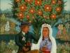 Josip Generalic, 1970, Wedding cake, oil on glass, 120x80 cm