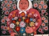 Josip Generalic, 1970, Woman with bouquet of flowers, oil on canvas
