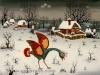 Josip Generalic, 1971, Bird in winter, oil on glass