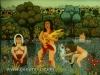Josip Generalic, 1971, Women fishing, oil on glass
