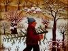 Josip Generalic, 1972, Christmas tree, oil on glass