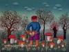 Josip Generalic, 1972, Picking mushrooms, oil on canvas
