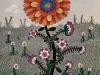 Josip Generalic, 1972, Red flower, oil on canvas