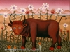 Josip Generalic, 1972, Young bull, oil on canvas