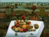Josip Generalic, 1973, Apples, oil on glass, 91x95 cm