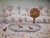 Josip Generalic, 1973, Ducks in a lake, oil on canvas