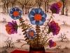 Josip Generalic, 1973, Flowers in winter, oil on glass