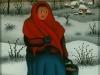 Josip Generalic, 1973, Woman in winter, oil on glass