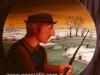 Josip Generalic, 1974, Daddy is fishing, oil on glass, 100 cm