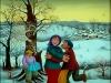 Josip Generalic, 1974, Dancing on the snow, oil on glass