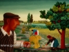 Josip Generalic, 1974, Father is painting, oil on glass, 100x150 cm