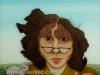 Josip Generalic, 1975, John Lennon's tongue, oil on glass, 45x50 cm
