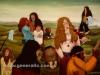 Josip Generalic, 1975, Woodstock 1973, oil on glass, 120x170 cm