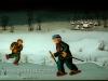 Josip Generalic, 1976, Ice-skaters on frozen lake, oil on glass, 47x69 cm
