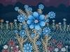 Josip Generalic, 1977, Blue flowers, oil on glass
