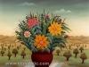 Josip Generalic, 1977, Flowers in a pot, oil on glass
